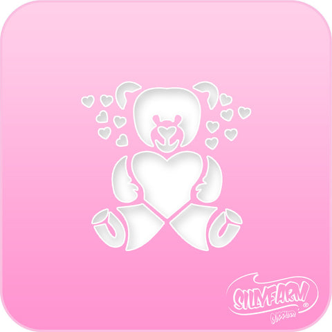 Teddy Bear Pink Power Stencil