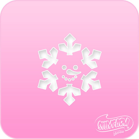 Snowman Flake Pink Power Stencil