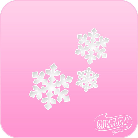 Triple Snowflake Pink Power Stencil