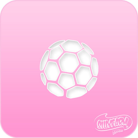 Soccer Ball Pink Power Stencil