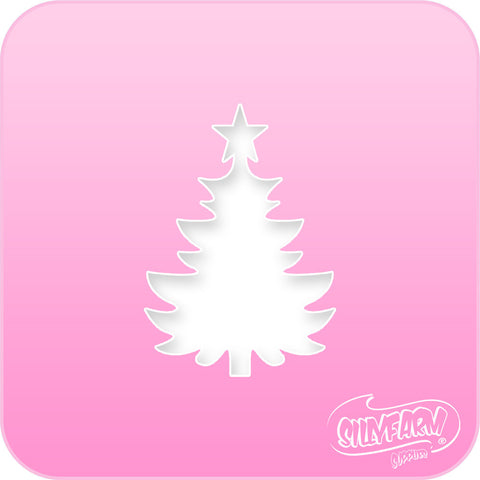 Christmas Tree Pink Power Stencil