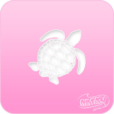 Sea Turtle Pink Power Stencil