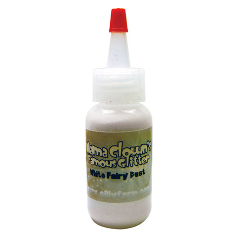 White Fairy Dust Mama Clown Glitter .5oz Poofer Bottle