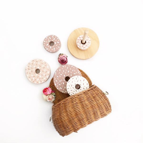 Mauve & Nude Donut Stacker <br> Ready to ship