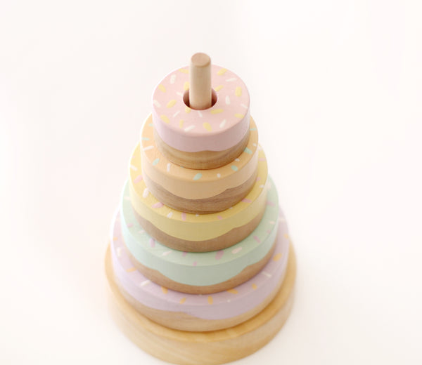 Rainbow Donut Stacker <br> NEW <br> Ready to ship