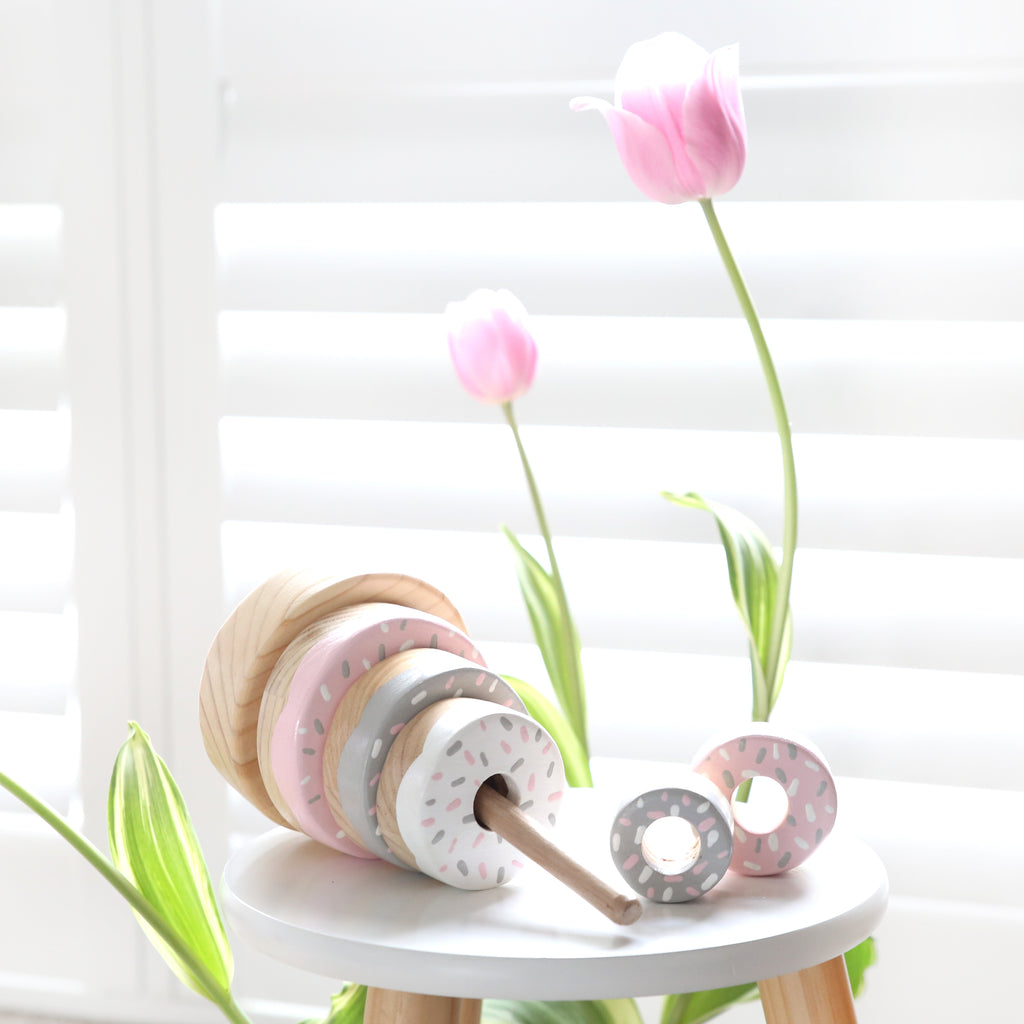 Preorder - Pink & Grey Donut Stacker