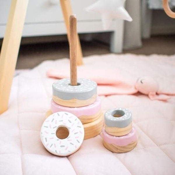 Pink & Grey Donut Stacker <br> Timberland Toy Co Collaboration <BR> PRE ORDER
