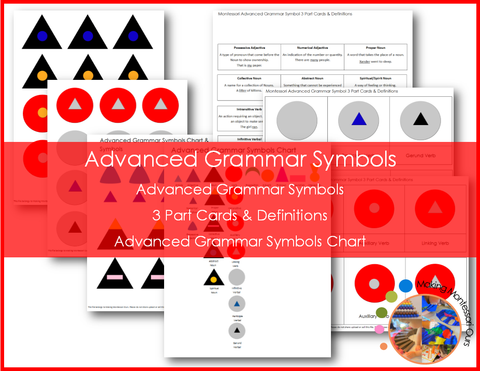 Montessori Advanced Grammar Symbols Package