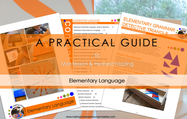 Montessori Elementary Language ~ A Practical Guide to Montessori & Homeschooling *PDF BOOK*