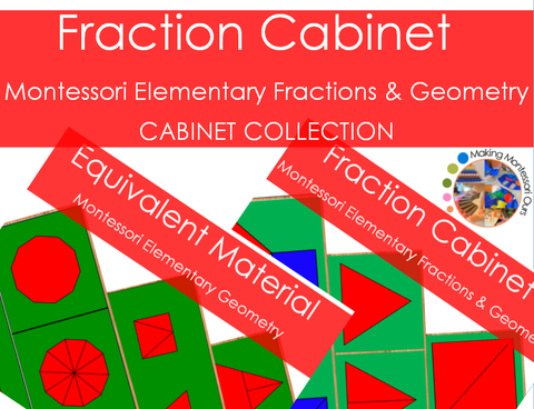 Montessori Fraction Cabinet Collection