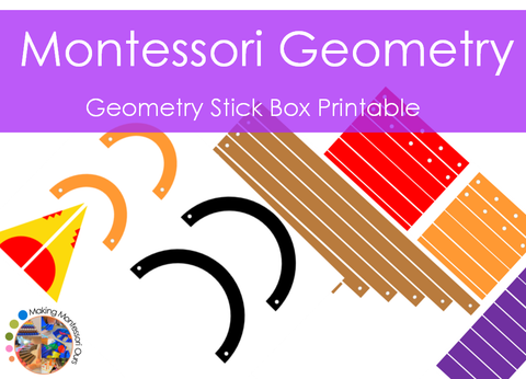 Montessori Geometry Sticks Material