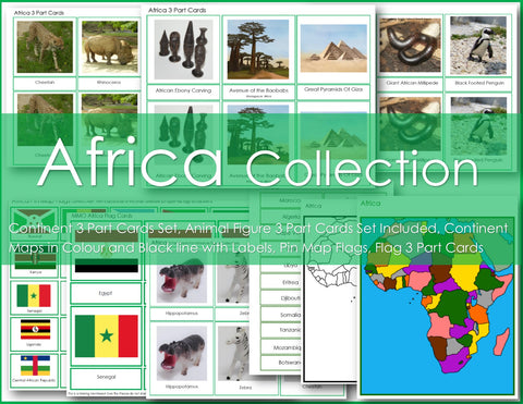 Montessori AFRICA Continent Collection