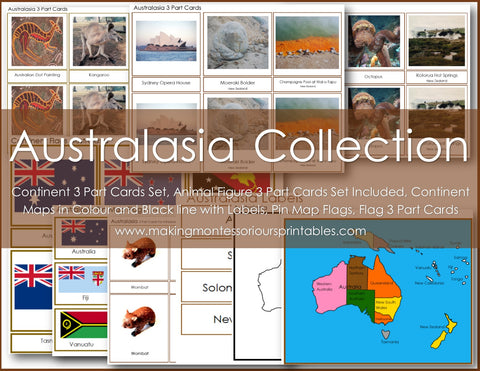 Montessori AUSTRALASIA Continent Materials Package