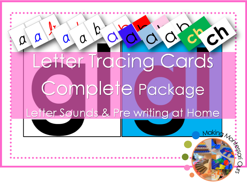 Montessori Sandpaper Letter Tracing Printable Package