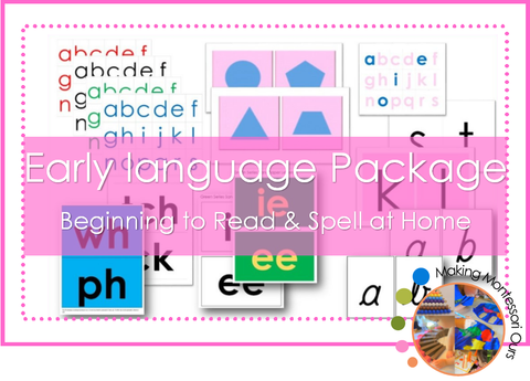 Montessori Early Language Package PDF