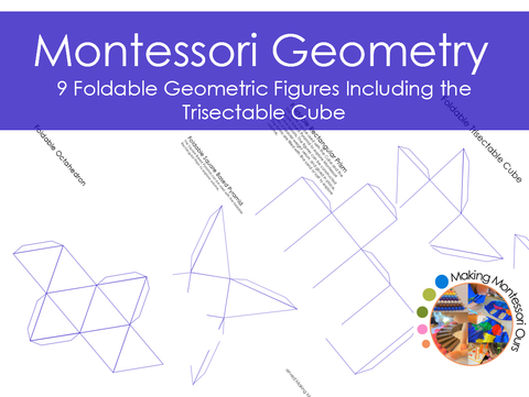 Montessori Foldable Geometric Figures