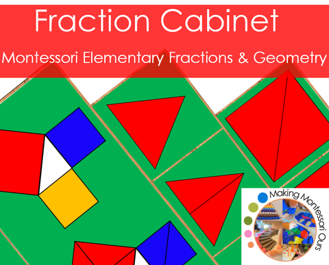 Montessori Fraction Cabinet Materials