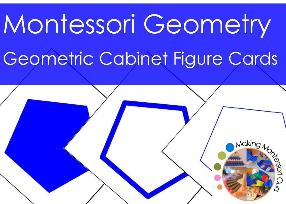 Montessori Geometric Cabinet Figure Cards