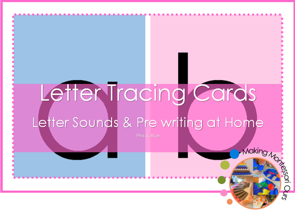 Montessori Print Letter Tracing Cards (Sandpaper Letters)