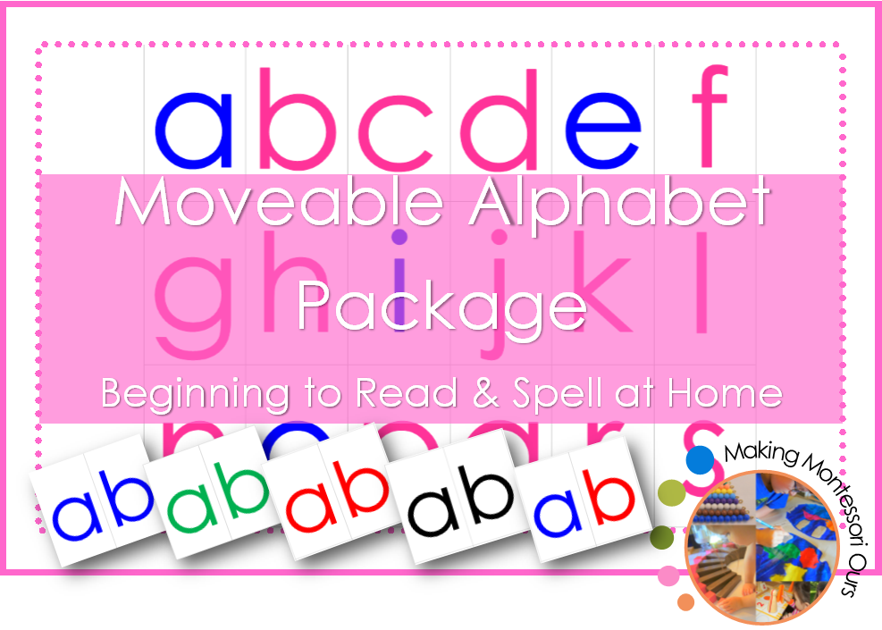 Montessori Moveable Alphabet Collection