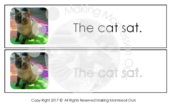 Montessori Beginner Reading & Tracing Strips