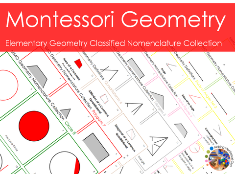 Montessori Geometry Nomenclature Collection