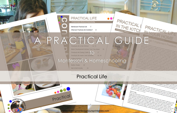 Montessori Practical Life  ~ A Practical Guide to Montessori & Homeschooling *PDF BOOK*