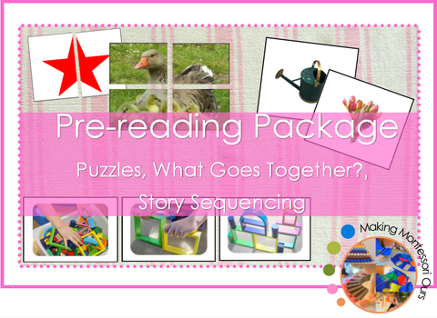 Montessori Pre-reading Package