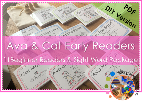 Ava & Cat Beginner Readers and Sight Word Package **PDF VERSION**