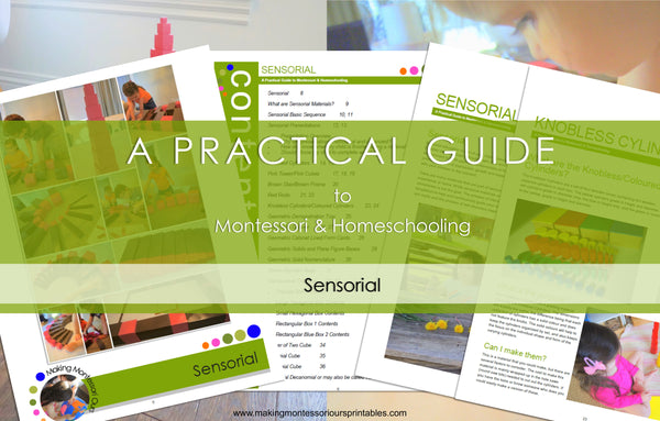 Montessori Sensorial ~ A Practical Guide to Montessori & Homeschooling *PDF BOOK*