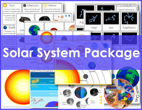 Solar System Package PDF Learning Materials