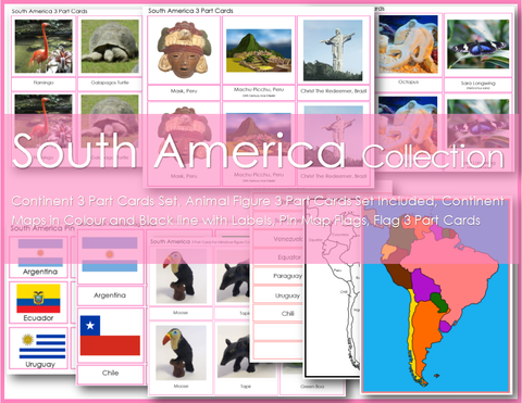 Montessori SOUTH AMERICA Continent Collection