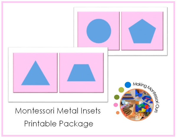 Montessori Printable Metal Insets