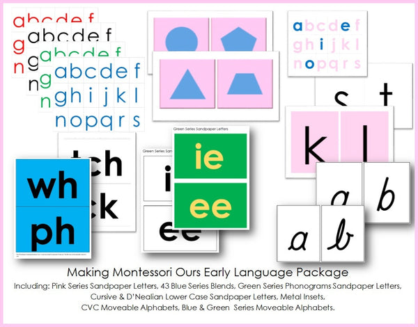 Montessori Early Language Package