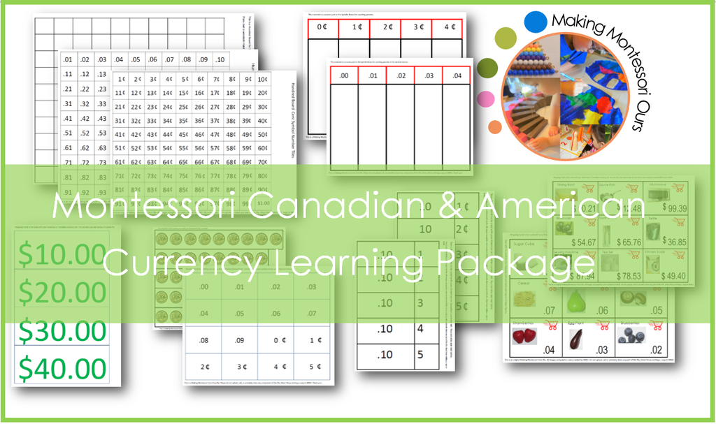 Money Learning Printable Package /Early Learning
