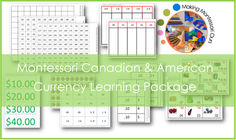 Currency Learning Printable Package