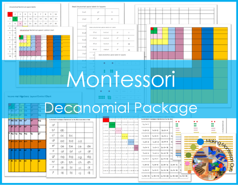 Montessori Decanomial Layout Package