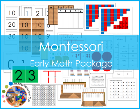 Montessori Early Math Package