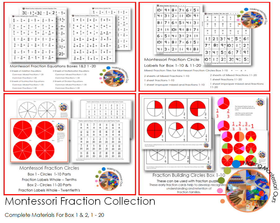 Montessori Complete Fraction Collection
