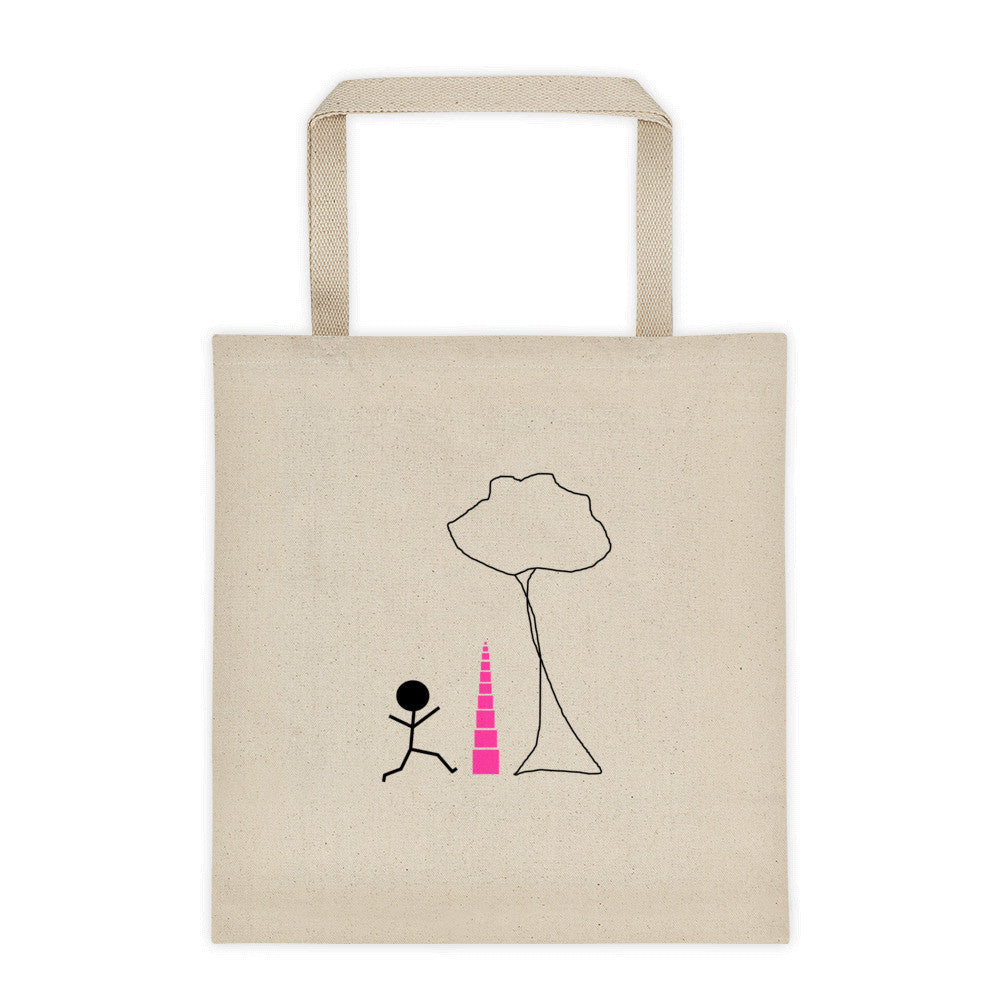 Pink Tower Tree Tote bag