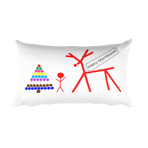 Merry Montessori Rectangular Pillow