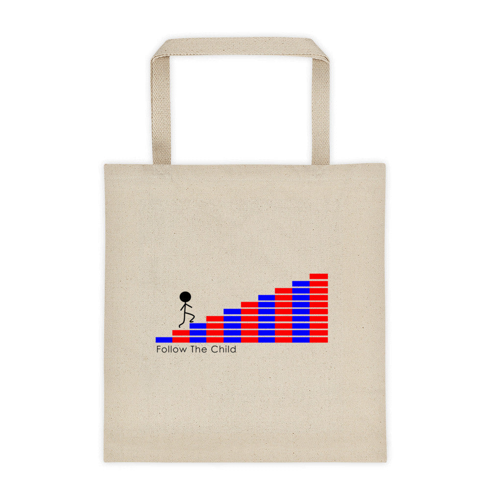 Follow The Child Numbered Rods Tote bag