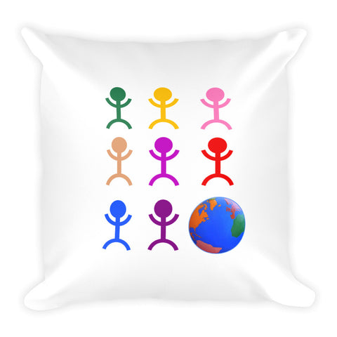 World Square Pillow