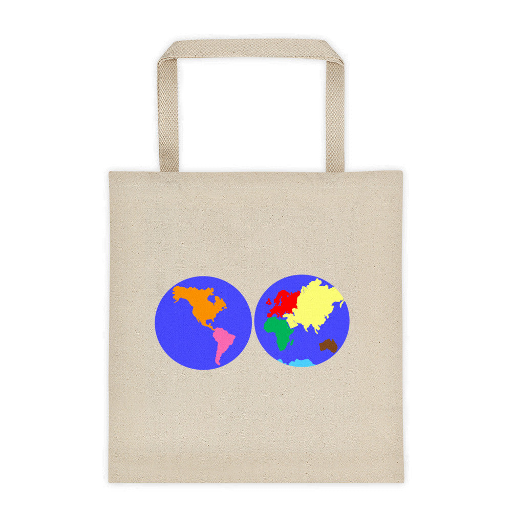Continents Puzzle Tote bag