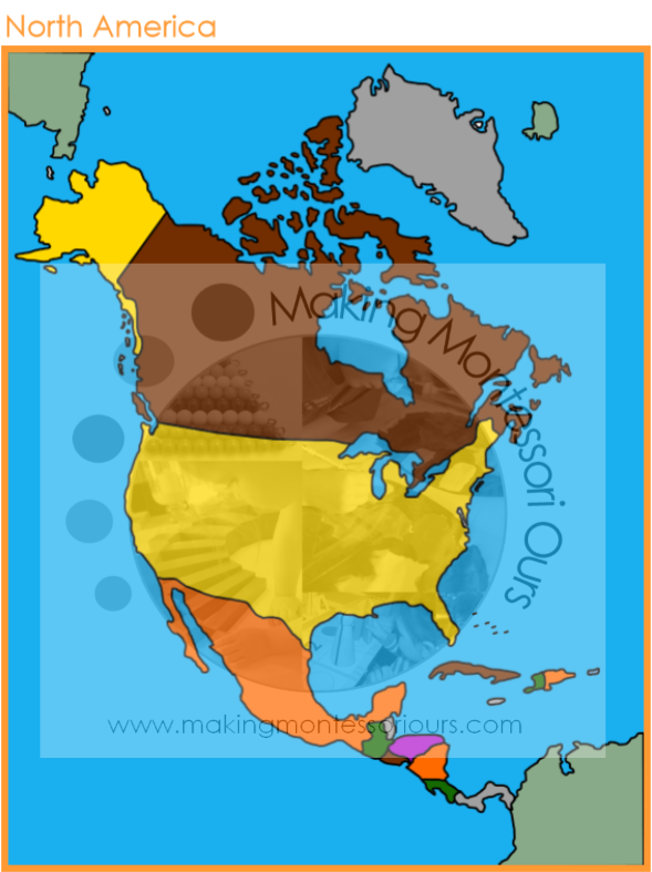 north american continent map