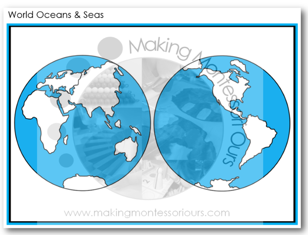 Montessori World Continents, Oceans & Seas Collection