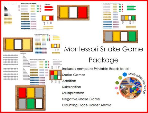 Montessori Snake Games Package