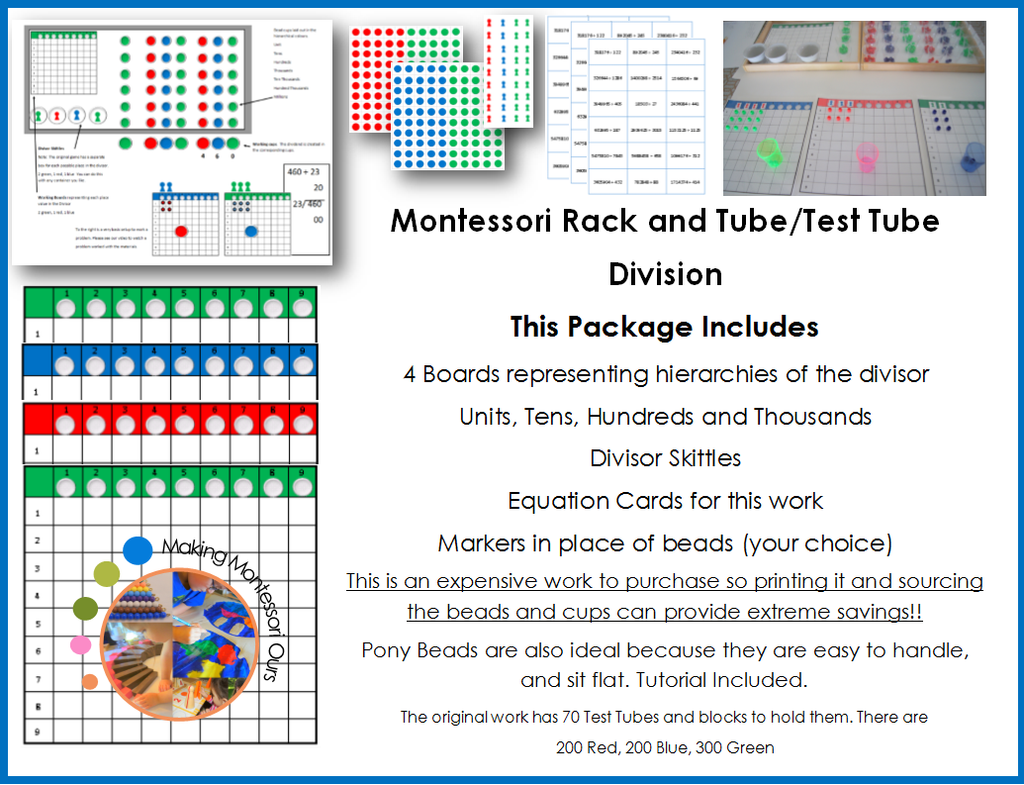 Montessori Test Tube Division