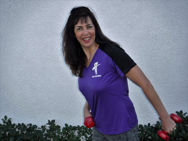 Womens - Short Sleeve Soul Cool Fit T-Shirt - Princess Purple w/ Black Strip on Sleeve - Soul Trotters