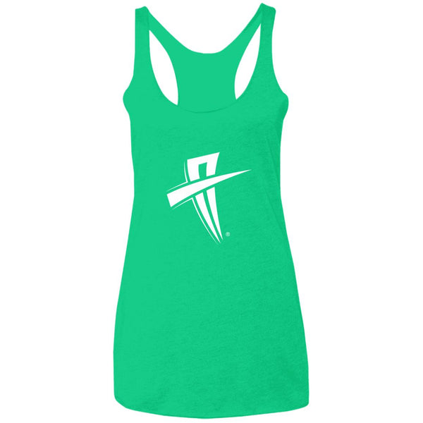 Soul Trotters Action Cross Ladies' Triblend Racerback Tank - Soul Trotters